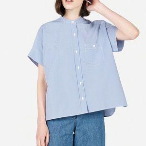 Everlane Cotton Poplin Square Stripe Shirt
